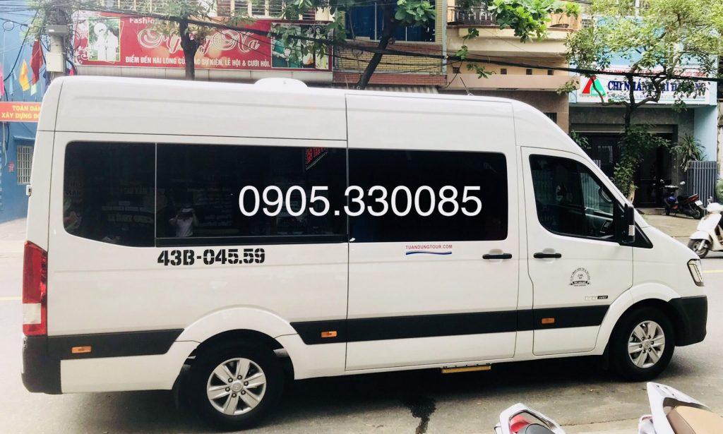 Cho thuê xe 16 chỗ Đà Nẵng Ford transit